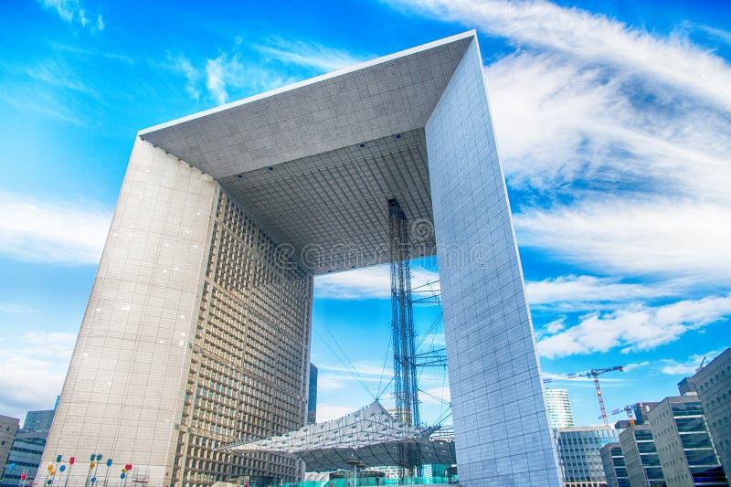 Grande arche in la defense district Paris, France stock photo