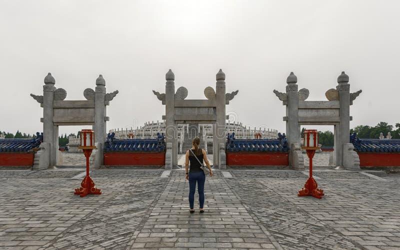 Grande arco al tempio del cielo immagini stock libere da diritti