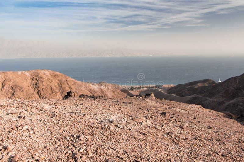 Grande arco nel parco di Timna, Israele fotografie stock libere da diritti
