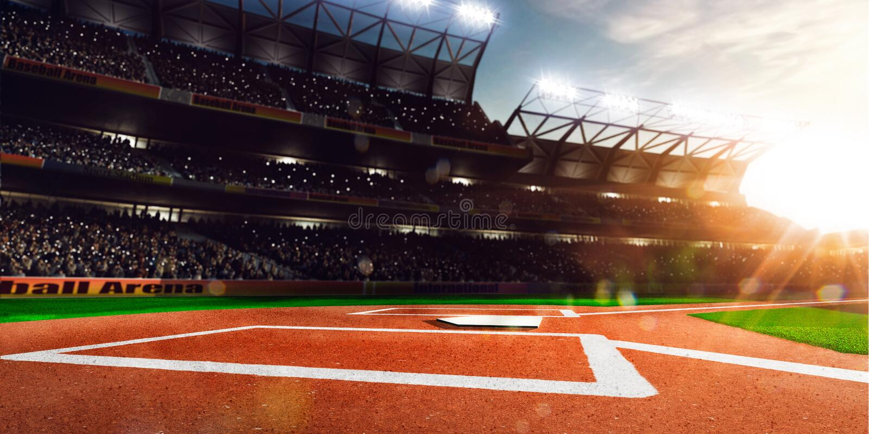 Grande arena di baseball professionale al sole immagini stock
