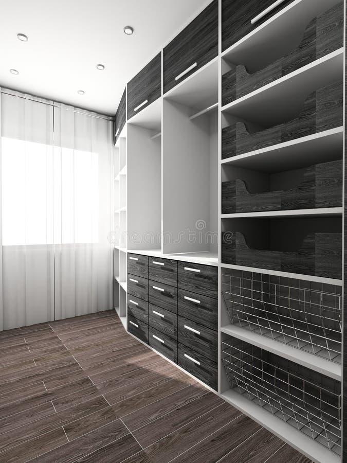 Grande armadio nell'interiore domestico illustrazione di stock