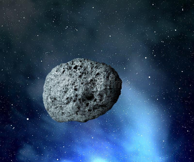 grande asteróide ilustração stock