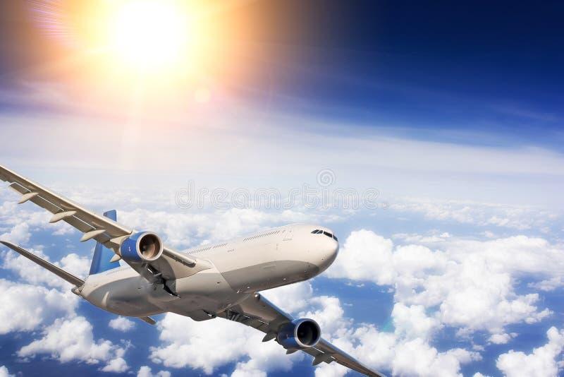 Grande avião comercial fotografia de stock royalty free