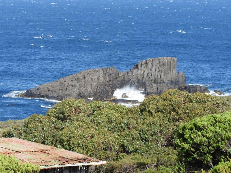 Grande baía de Taylors, ilha de Bruny, Tasmânia fotos de stock royalty free