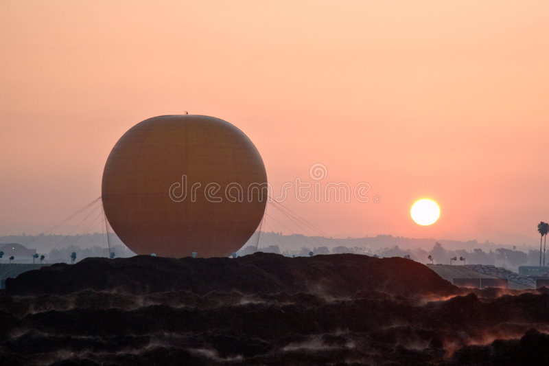 Grande balão do parque fotos de stock royalty free