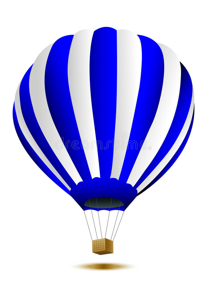 Grande balão em um fundo branco ilustração royalty free