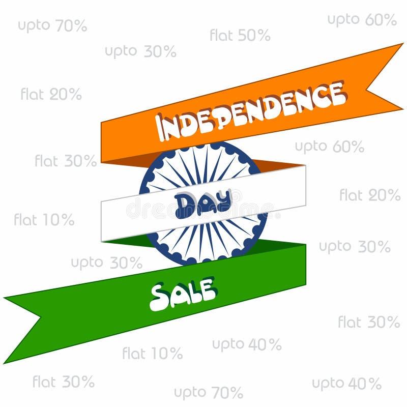 Grande bannière de vente de Jour de la Déclaration d'Indépendance pour différentes remises illustration stock