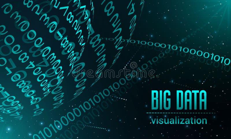 Grande bannière de visualisation de données, style réaliste illustration de vecteur