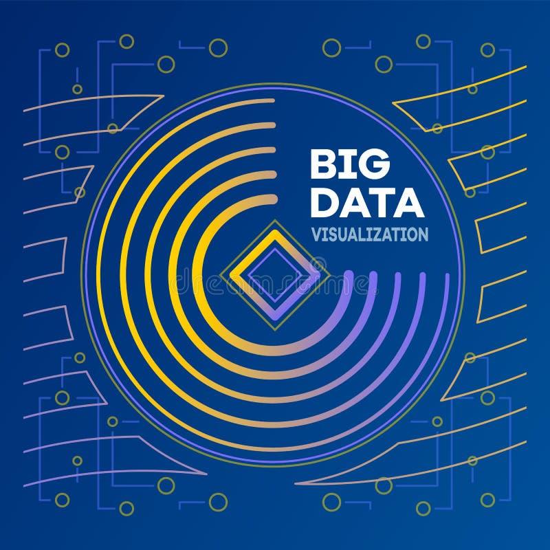 Grande bannière moderne de données, style d'ensemble illustration de vecteur