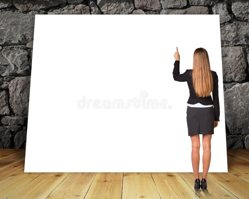 Grande bannière vide images stock