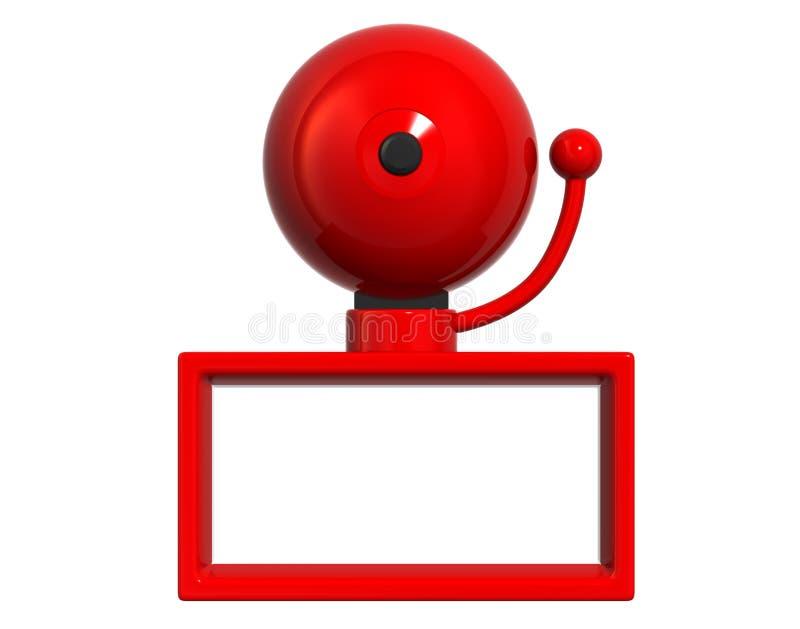 Grande Bell rouge illustration de vecteur