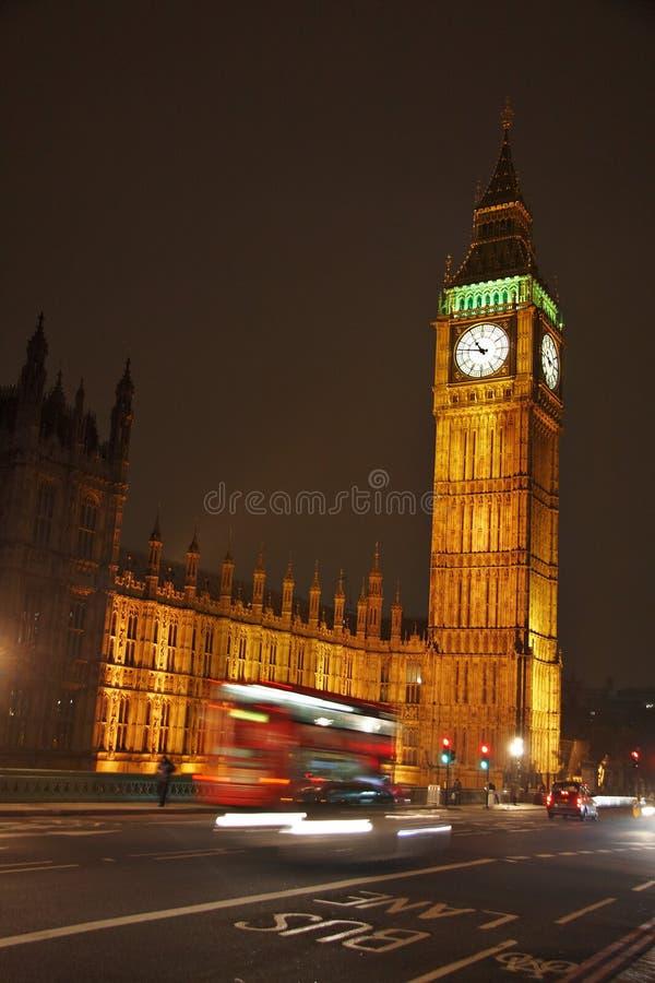 Grande Ben Alla Notte Fotografia Stock