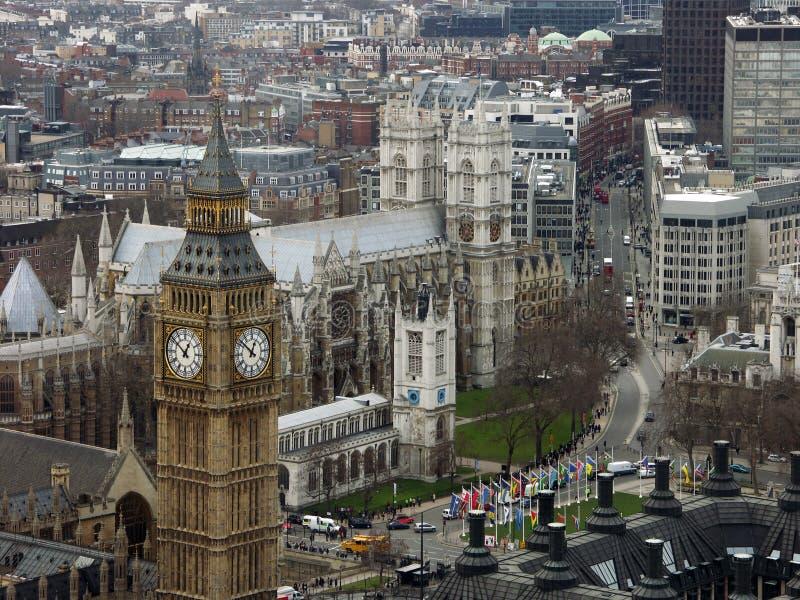 Grande Ben & Abbazia di Westminster fotografie stock libere da diritti