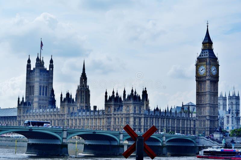 Grande Ben e la casa del Parlamento fotografia stock libera da diritti
