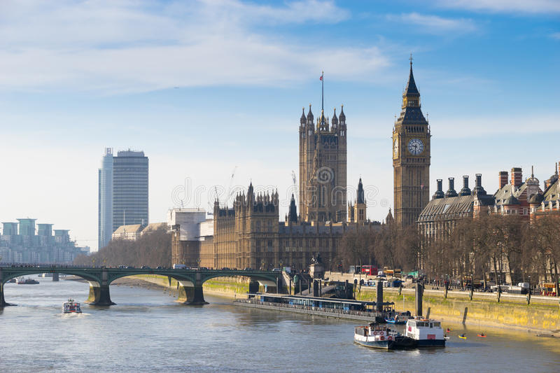 Grande Ben, Londra, Inghilterra fotografia stock