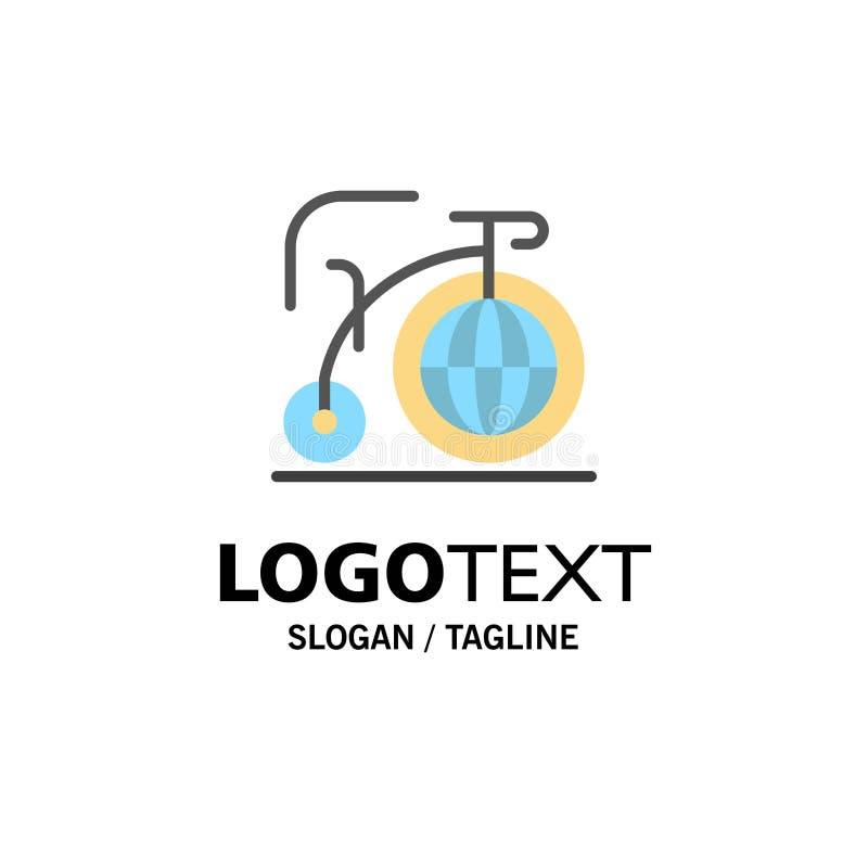 Grande, bici, sogno, affare Logo Template di ispirazione colore piano illustrazione di stock