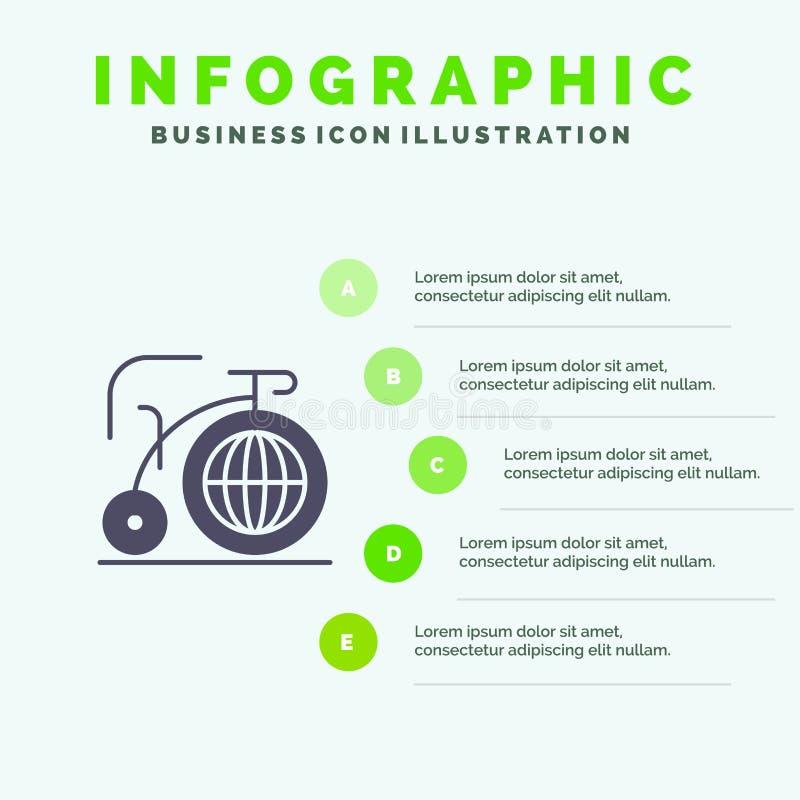 Grande, bici, sogno, fondo solido di presentazione di punti di Infographics 5 dell'icona di ispirazione royalty illustrazione gratis