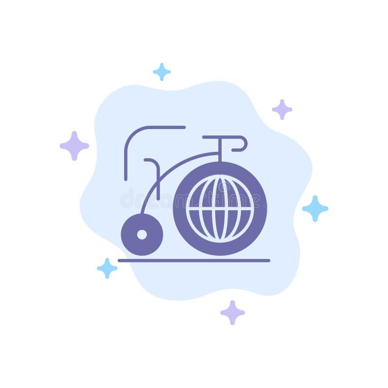 Grande, bici, sogno, icona blu di ispirazione sul fondo astratto della nuvola royalty illustrazione gratis