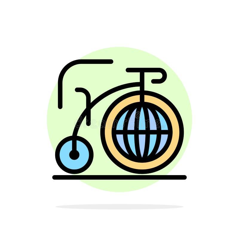 Grande, bici, sogno, icona piana di colore del fondo astratto del cerchio di ispirazione illustrazione di stock