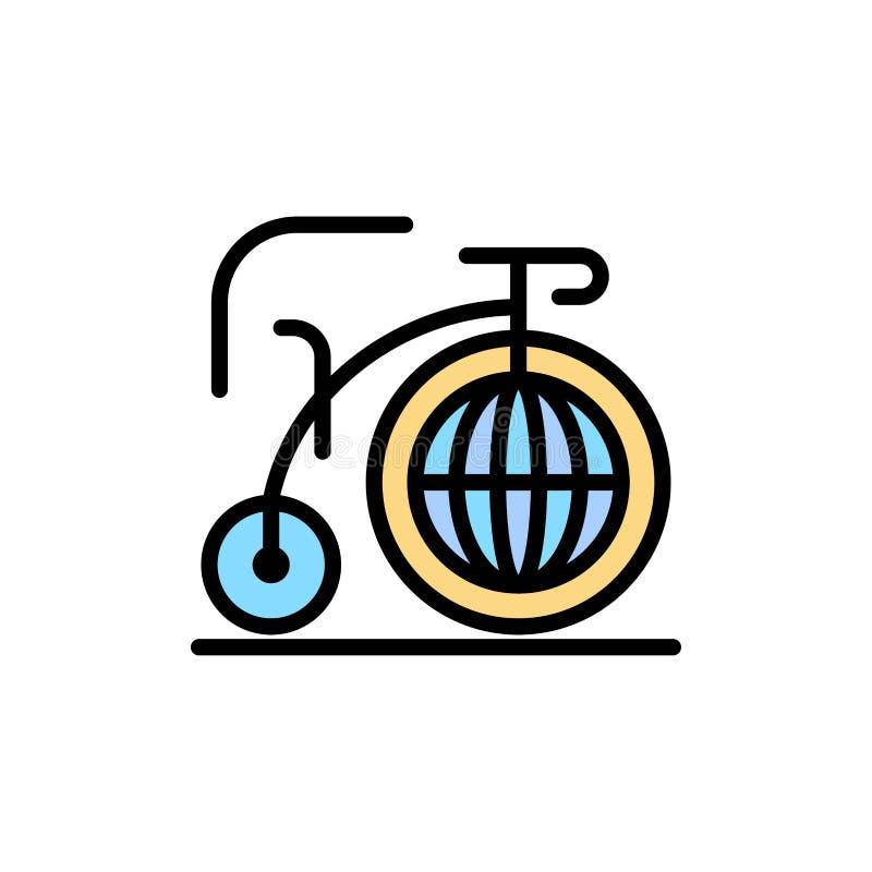 Grande, bici, sogno, icona piana di colore di ispirazione Modello dell'insegna dell'icona di vettore illustrazione di stock