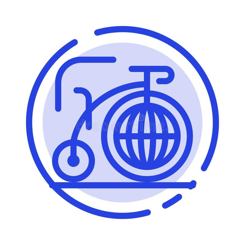 Grande, bici, sogno, linea punteggiata blu linea icona di ispirazione illustrazione di stock