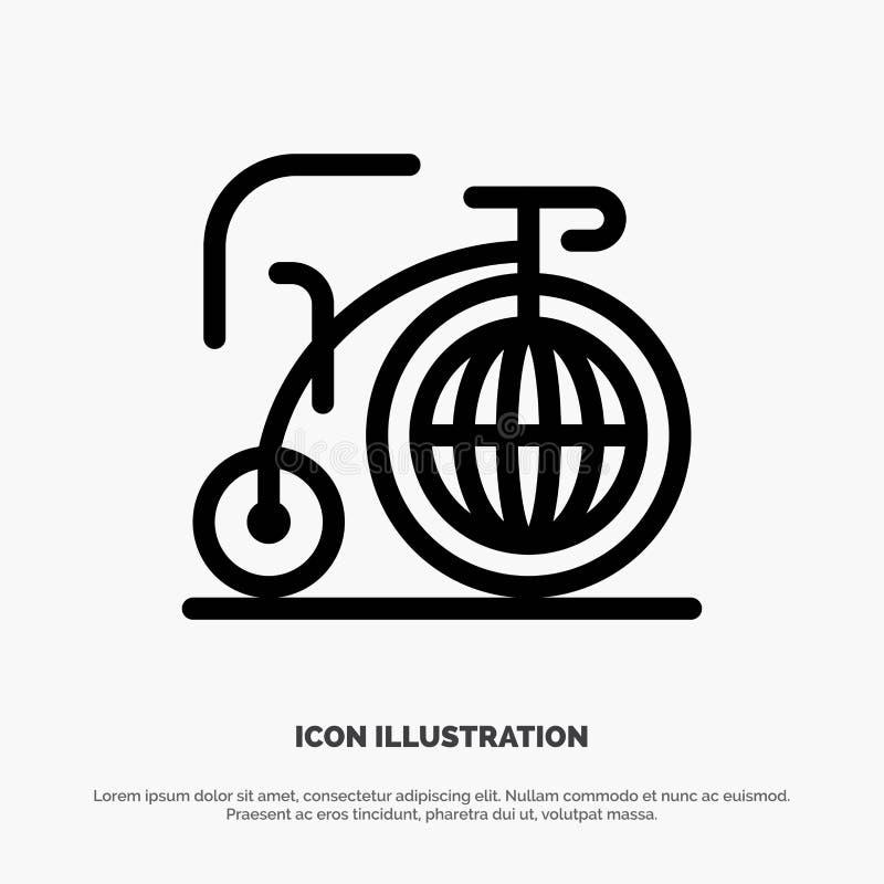 Grande, bici, sogno, linea vettore di ispirazione dell'icona illustrazione di stock
