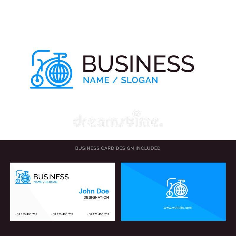 Grande, bici, sogno, logo di affari di ispirazione e modello blu del biglietto da visita Progettazione della parte posteriore e d royalty illustrazione gratis