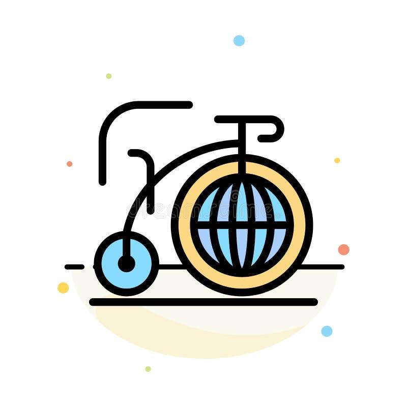 Grande, bici, sogno, modello piano dell'icona di colore dell'estratto di ispirazione royalty illustrazione gratis