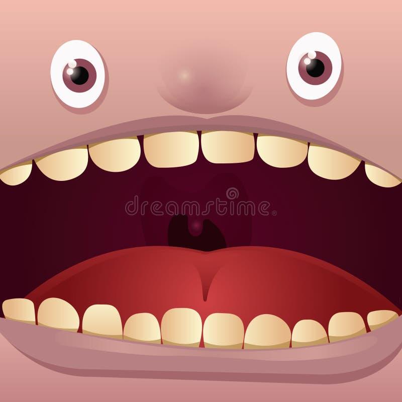 Grande bocca illustrazione di stock