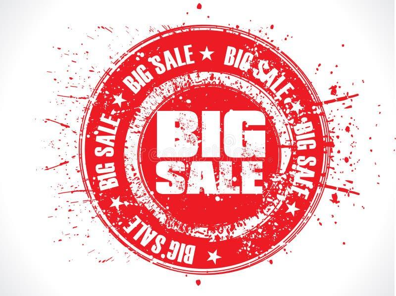 Grande bollo rosso astratto del grunge di vendita royalty illustrazione gratis