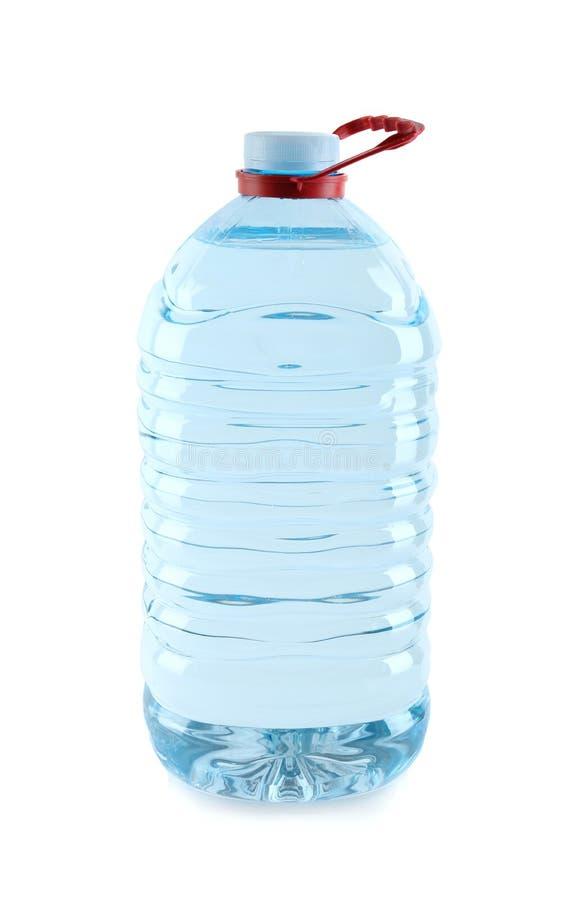 Grande bottiglia di plastica con acqua pura fotografia stock