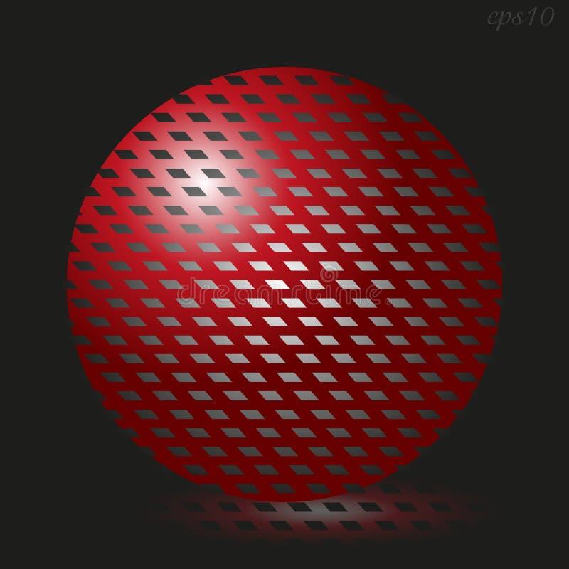 Grande boule rouge illustration libre de droits