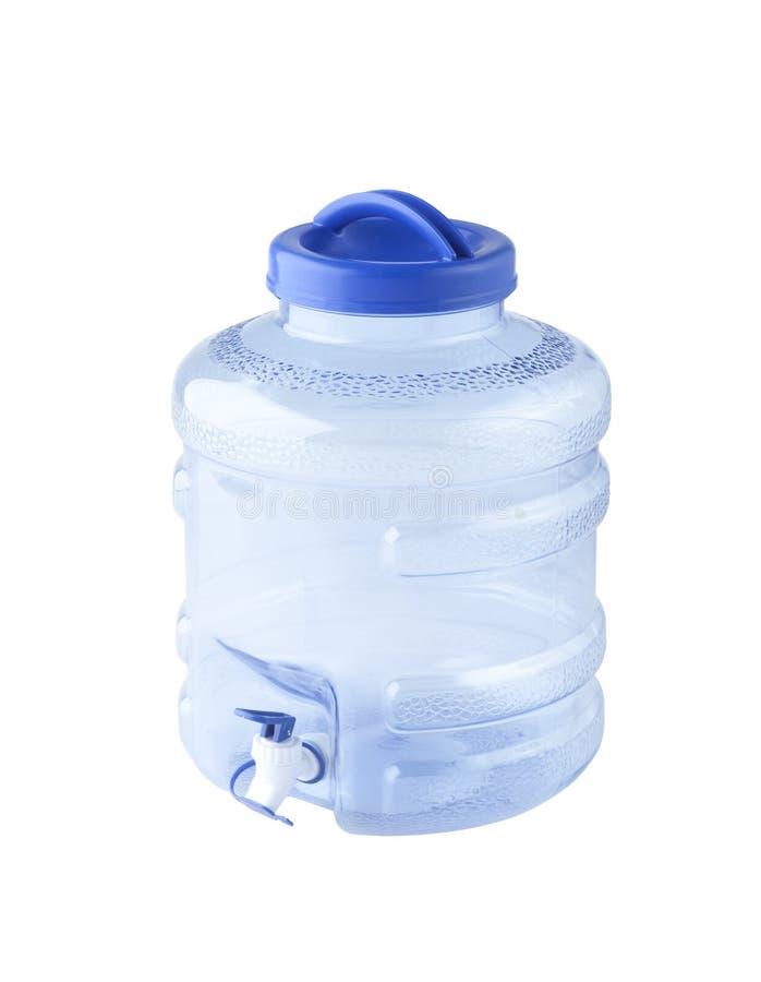 Grande bouteille d'eau avec le distributeur photos libres de droits