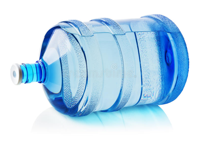 Grande bouteille de l'eau sur le fond blanc images stock