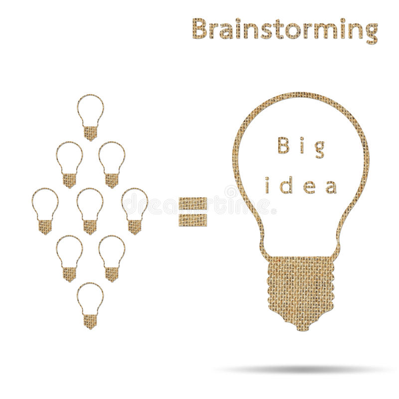 Grande 'brainstorming' di concetto di idea della tela da imballaggio royalty illustrazione gratis