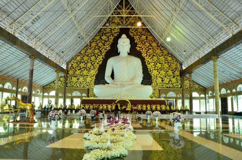 Grande Buddha bianco del fiore fotografia stock