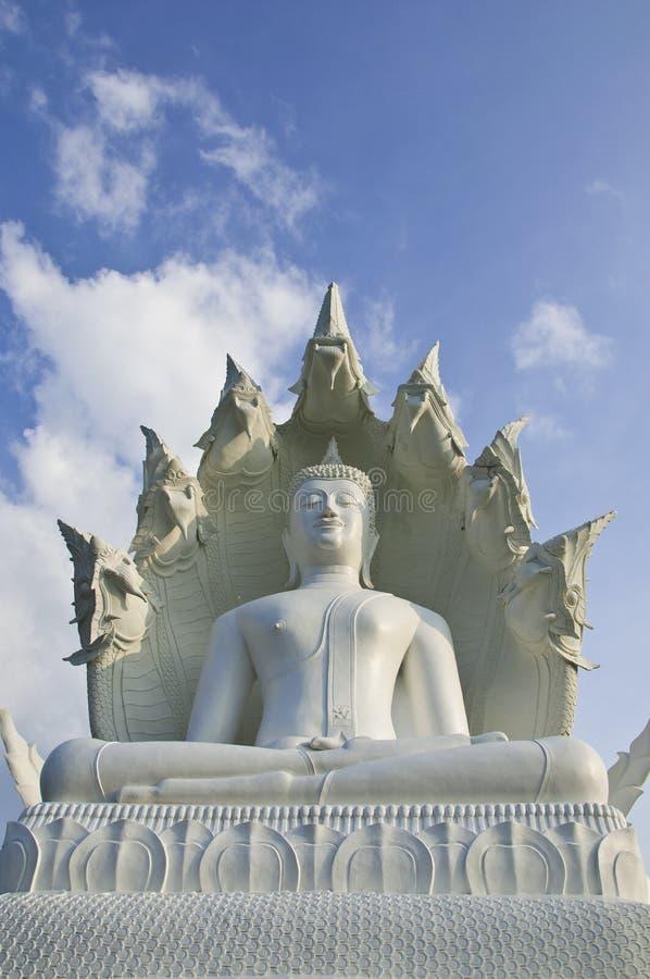 Grande Buddha branco. fotos de stock royalty free