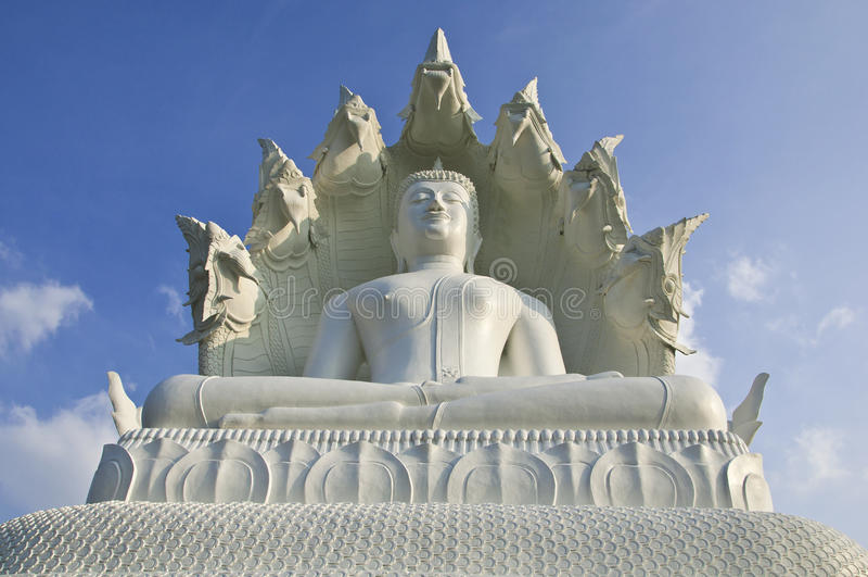 Grande Buddha branco. imagens de stock royalty free