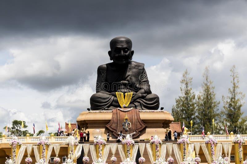 grande Buddha, Luang Phor Tuad Buddha in tempio H di Wat Huai Mongkhon immagini stock libere da diritti