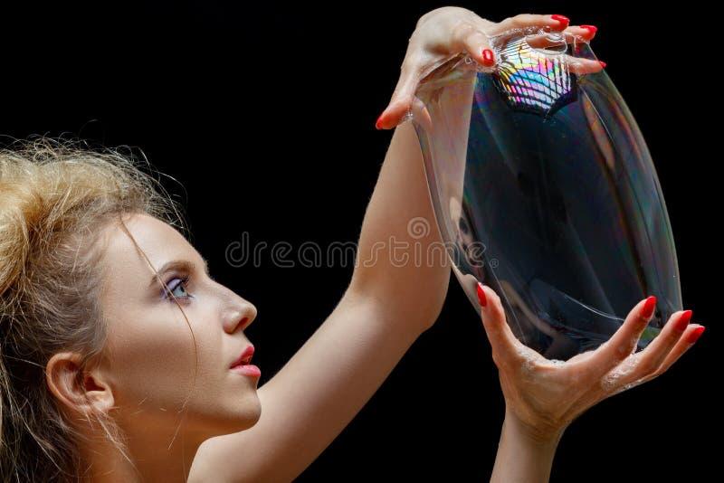 Grande bulle de savon image libre de droits