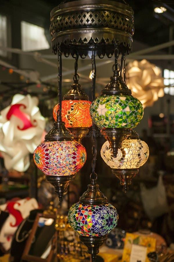 Grande candelabro colorido imagens de stock royalty free