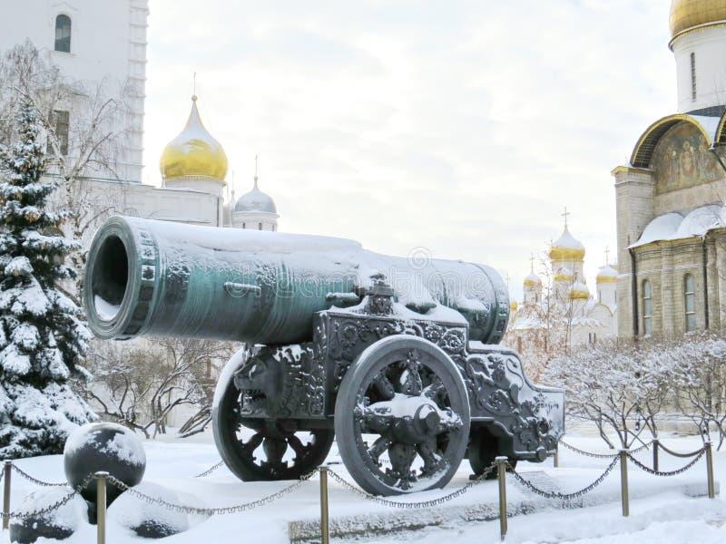 Grande canhão de Kremlin imagem de stock