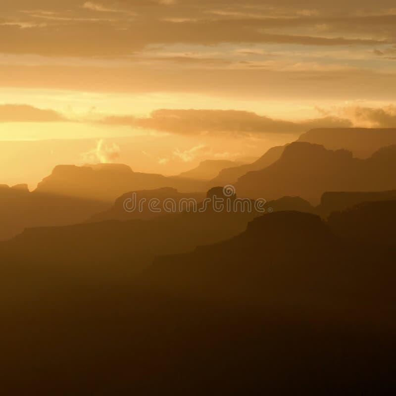 Grande canyon al tramonto immagini stock