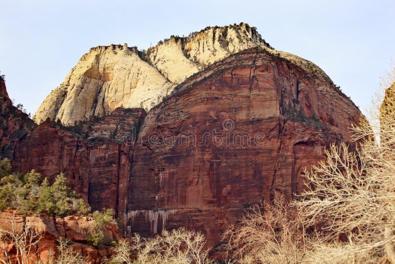 Grande canyon bianco Utah di Zion del trono immagini stock libere da diritti