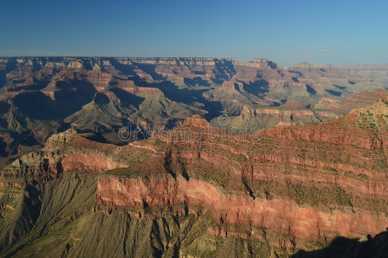 Grande canyon del fiume di colorado E Formazioni geologiche immagini stock