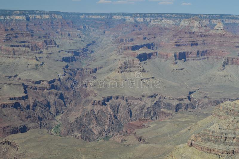Grande canyon del fiume di colorado E Formazioni geologiche fotografia stock libera da diritti