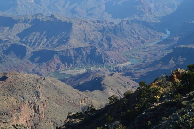 Grande canyon del fiume di colorado Formazioni geologiche fotografia stock libera da diritti