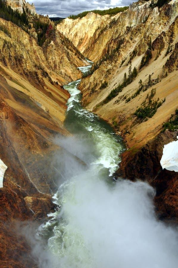 Grande canyon del Yellowstone. immagine stock libera da diritti