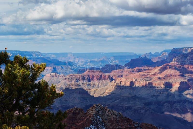 Grande canyon in inverno fotografie stock