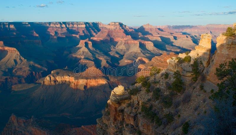 Grande canyon NP al tramonto immagini stock libere da diritti